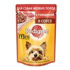 Влажный корм Pedigree для собак мини пород, говядина, пауч, 85 г