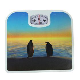 Весы напольные LuazON LVM-1310, напольные, механические, до 130 кг, 'Пингвины' Ош