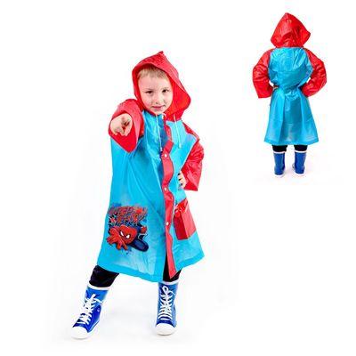"""Дождевик детский в чехле """"Супергерой"""", Человек-паук , р-р L, рост 110-120 см"""