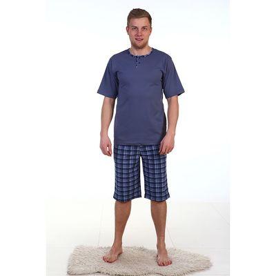Пижама мужская (футболка, шорты) ПК181 МИКС, размер 58