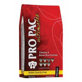 Сухой корм Pro Pac Ultimates Holistic для взрослых собак, курица/бурый рис, 2,5 кг.
