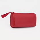 Cosmetic bag simple, division zipper, color red