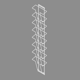 Полоса для печатной продукции, 8 карманов, А4, цвет белый
