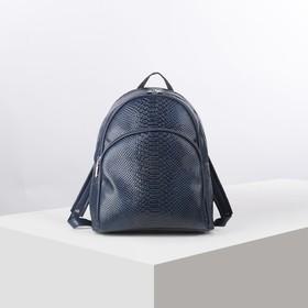 55328d189181 Рюкзак на молнии, эргономичная спинка, 1 отдел, наружный карман, цвет синий  Ош