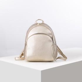 Рюкзак школьный, отдел на молнии, наружный карман, эргономичная спинка, цвет золото