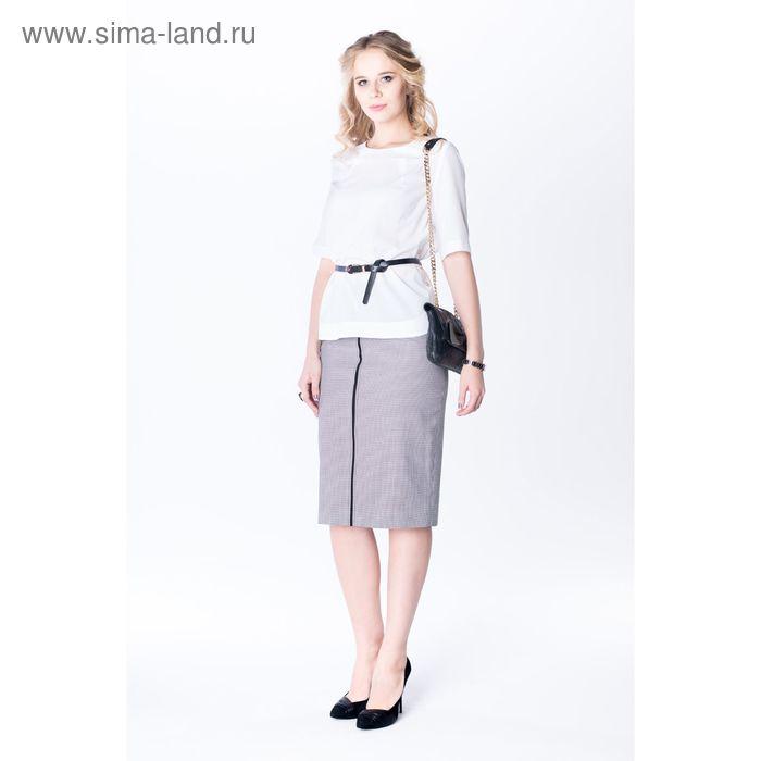 Блузка женская bl1046-1012 цвет белый, р-р 56, рост 170 см
