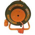 Сварочный удлинитель на катушке с выносной розеткой GLANZEN, 30 м, 22 А, ПВС 2х2,5  EB-30-010   2316