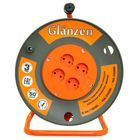 Удлинитель на катушке Glanzen, 4 розетки, 50 м, 16 А, IP20, ПВС 2х2.5 EB-50-008