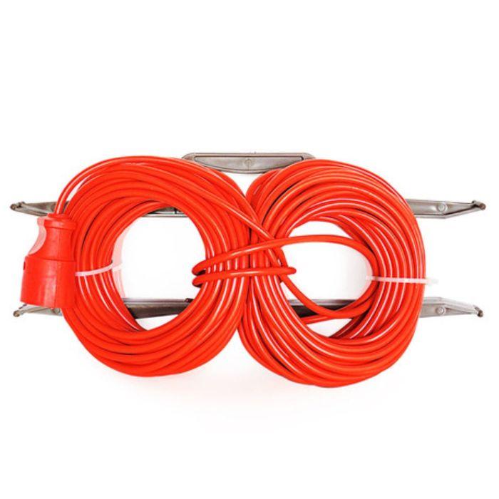 Удлинитель на рамке штепс. Glanzen, 1 розетка, 40 м, 6 А, IP20, ПВС 2*0.75, ER-40-001