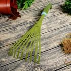 Грабли веерные, пластинчатые, длина 37 см, 9 зубцов, металл, пластиковая ручка