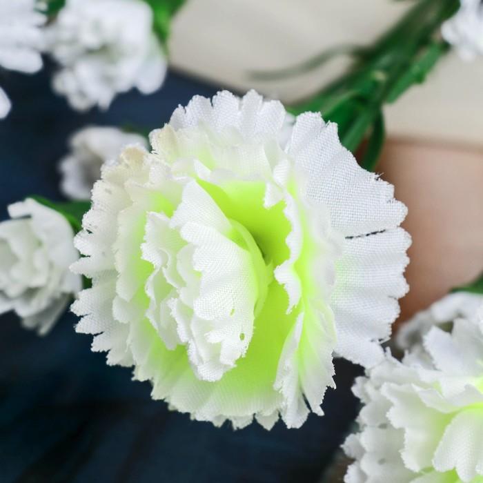 """Цветы искусственные """"Белая кустовая гвоздика"""""""