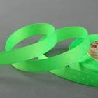 """Лента репсовая """"Горошек"""", 15мм, 22±1м, цвет зелёный"""