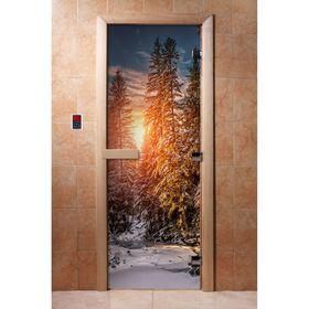 Дверь с фотопечатью, стекло 8 мм, размер коробки 190 × 70 см, левая, цвет А093