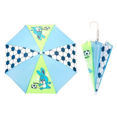 """Зонт детский """"Гол"""", механический, r=26см, цвет салатовый/голубой"""