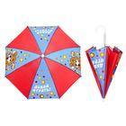 """Зонт детский """"Давай играть"""", механический, r=26см, цвет голубой/красный"""