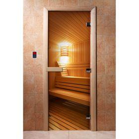 Дверь с фотопечатью, стекло 8 мм, размер коробки 190 × 70 см, левая, цвет А031