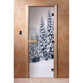 Дверь с фотопечатью, стекло 8 мм, размер коробки 190 × 70 см, левая, цвет А091