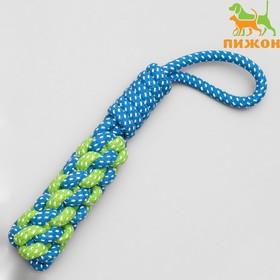 Игрушка канатная плетеная с ручкой, 120 г, до 31 см, микс цветов