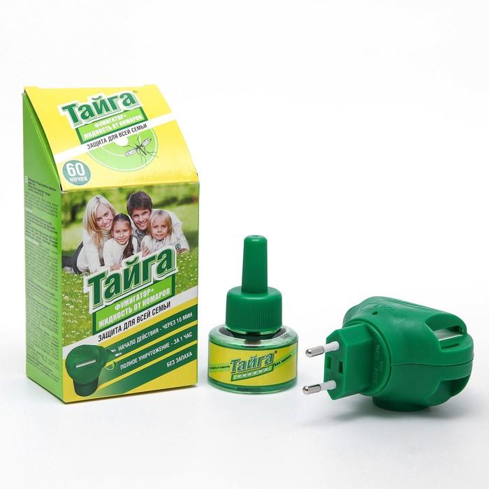 Комплект Тайга, фумигатор + жидкостной наполнитель от комаров