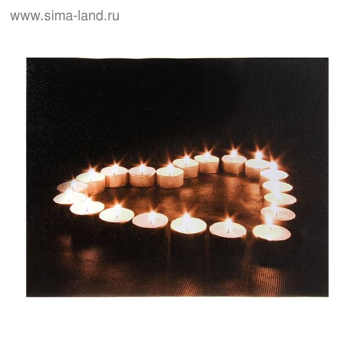 """Световая картина """"Сердце из свечей"""""""