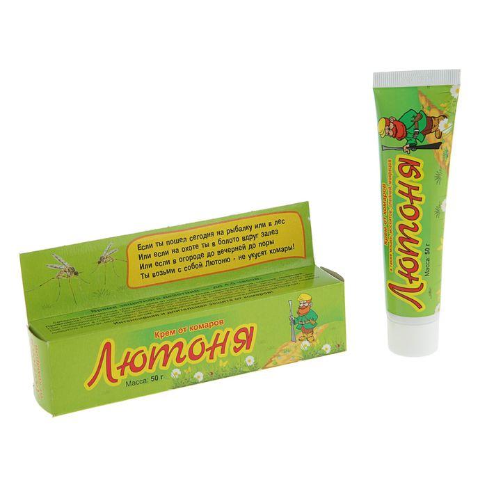 Крем от комаров Лютоня для взрослых, футляр, 50 г