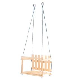 """Качели детские """"Садовые"""", сидение: 45 × 35 см, высота спинки: 27 см"""