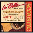 Струны для акустической гитары La Bella 40PT Extra light