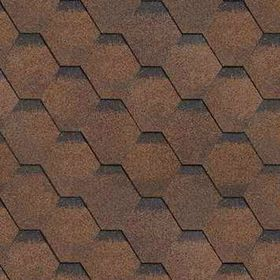 Гибкая Черепица Шинглас, Финская Соната, Коричневый, 1уп. 3м2, 1000х317 мм