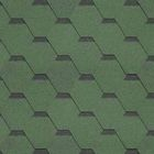 Гибкая Черепица Шинглас, Классик Кадриль Соната Зеленый/Нефрит, 1уп. 3м2, 1000х317 мм