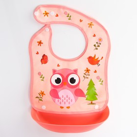 Нагрудник со съёмным карманом, непромокаемый, на кнопках, цвета МИКС