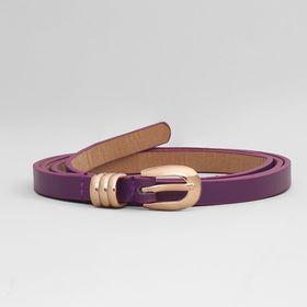 Ремень жен 01-01-01-01, 1*0,3*105см, хомут и пряжка золото, фиолетовый Ош
