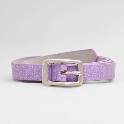 Women's belt Matt silver buckle, width 2 cm, color purple