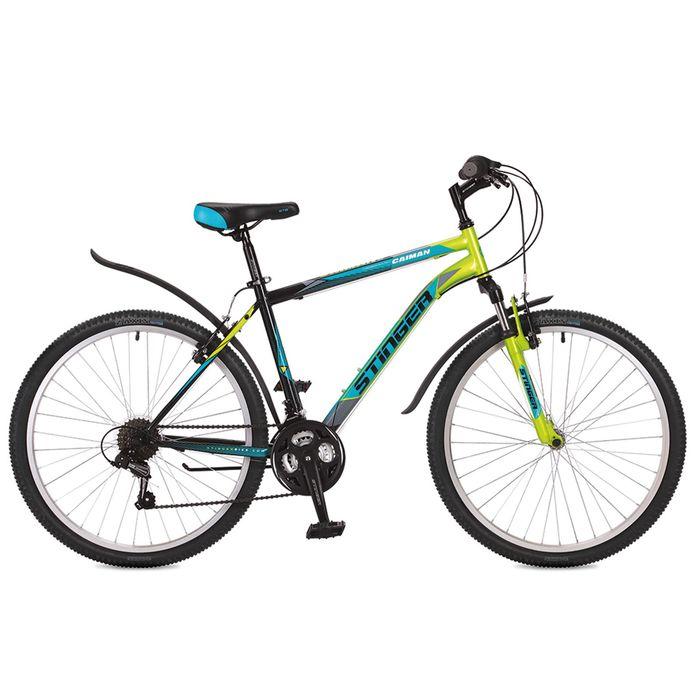 "Велосипед 26"" Stinger Caiman, 2017, цвет зелёный, размер 14"""