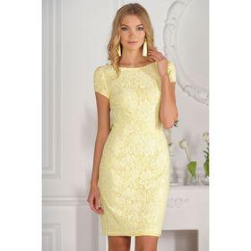 Платье женское, размер 42, рост 170 см, цвет жёлтый