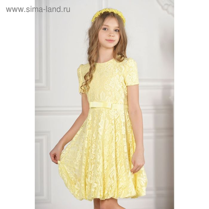 Платье детское, цвет жёлтый, размер 38, рост 134