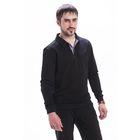 Джемпер мужской М-756-05 цвет чёрный, р-р 50