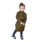 Карнавальный костюм «Солдаточка-малютка», пилотка, гимнастёрка, ремень, юбка, 2-3 года, рост 94-104 см - фото 105522256