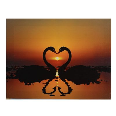 """Картина на подрамнике """"Лебединая любовь"""""""