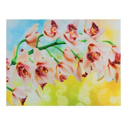 """Картина на подрамнике """"Яркая ветка орхидеи"""""""