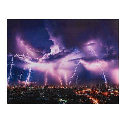 """Картина на подрамнике """"Молния над мегаполисом"""""""