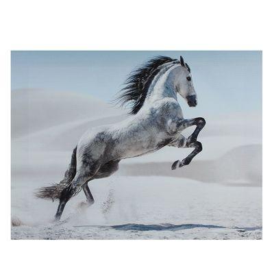 """Картина на подрамнике """"Серая лошадь в прыжке"""""""