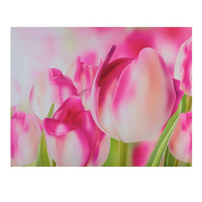 """Картина на подрамнике """"Розовые тюльпаны"""""""