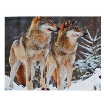 "Картина на подрамнике ""Волчья пара"""