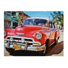 """The picture on the stretcher, """"a Red vintage car"""""""