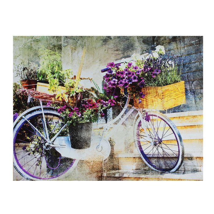 """Картина на подрамнике """"Цветочный велосипед"""""""