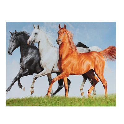 """Картина на подрамнике """"Лошади на прогулке"""""""