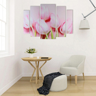 """Картина модульная на подрамнике """"Розовое наслаждение""""  80х118 см - фото 898555"""