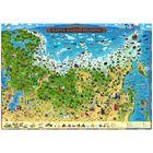 Карта России для детей «Карта Нашей Родины», 101 x 69 см, без ламинации