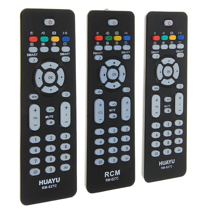 Пульт ДУ Huayu RM-627С, для ТВ Philips, универсальный, черный