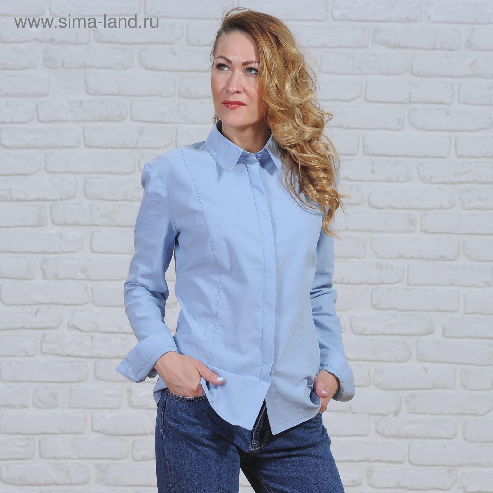 5525336a7ba0 Рубашка женская классическая, размер 46, рост 164 см, цвет голубой ...